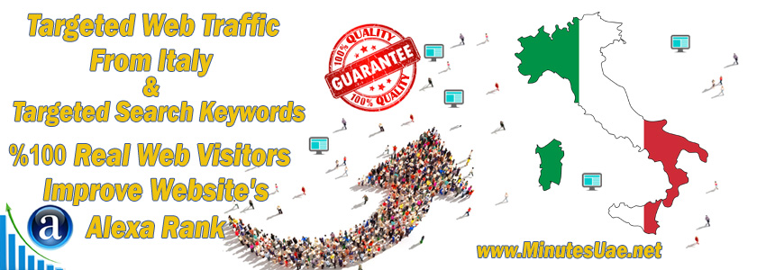 Buy Targeted Geo Web Traffic From Italy