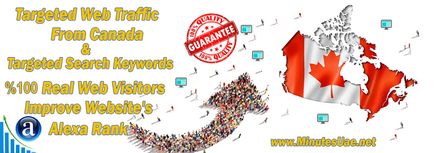 Buy Targeted Geo Web Traffic From Canada