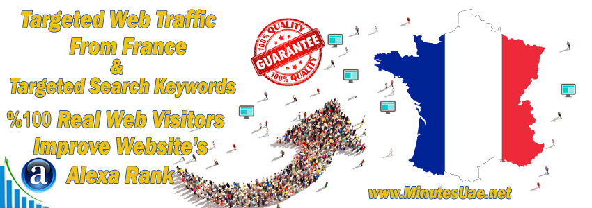 Buy Targeted Geo Web Traffic From France