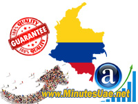 4000 targeted visitors from Colombia
