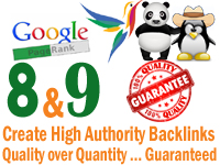 Create high quality pagerank 9 and 8 backlinks