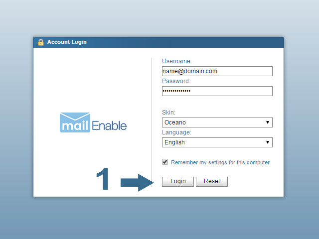 Login to Change Email Password in Webmail - Mailenable